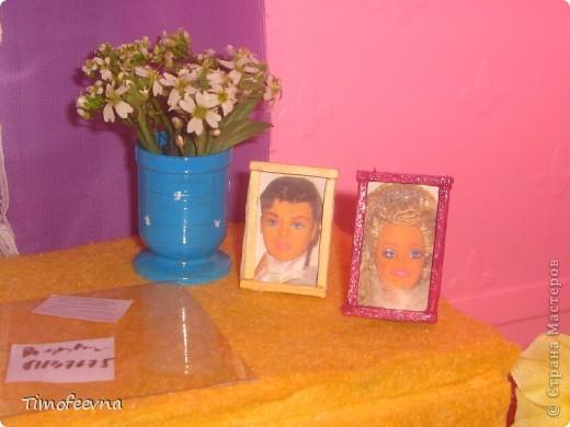 Здравствуйте!! В этом блоге я хочу показать небольшой МК очередной моей мебели из картона для куклы Барби младшей дочки. А именно процесс создания письменного стола. фото 44
