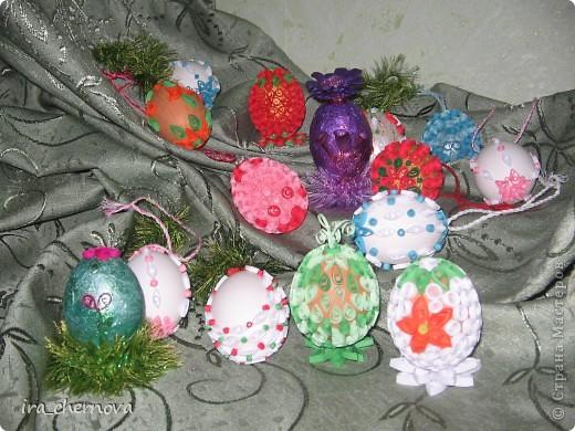 Вот моя веселая семейка декоративных яиц фото 1