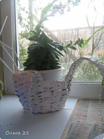 Моя лебедь-подставка для комнатных цветов! фото 1
