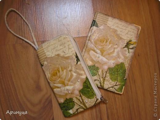 Обложка на паспорт и чехол для телефона))) фото 2