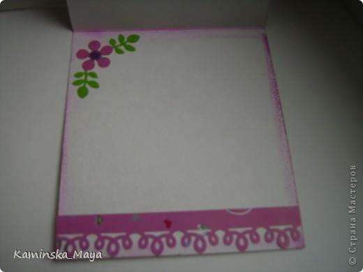 """Я продолжаю участвовать в совместнике от Лены  http://lenusichek.blogspot.com/2011/12/blog-post_24.html """"Дела сердеШные"""" Задание на май: вышить сердечко.  Такая вот открытка. фото 3"""