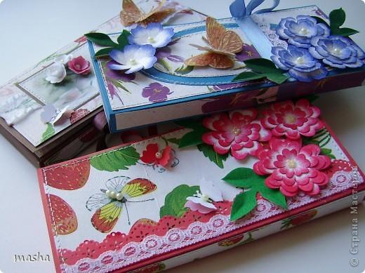 Добрый день! Хочу показать сделанные мною шоколадницы (мини-презент) для трех женщин. фото 1