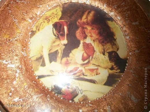 Первая тарелочка с обратным декупажем фото 2