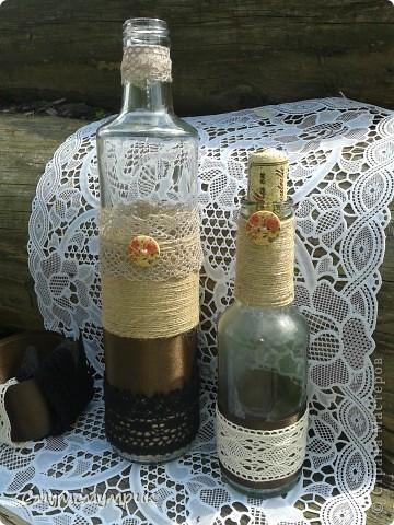Добрый день,жители СМ.Мои новые бутылочки.Сделала новые фоточки. Это интерьерные бутылочки,в них можно положить ватку пропитаную ароматным маслом. фото 1
