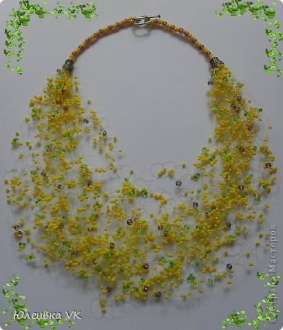 Для создания этих бус был использован чешский бисер и коралл. фото 5