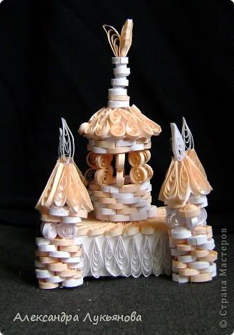 """Здравствуйте, Мастера и Мастерицы. Хочу представить Вам свою новую работу - """"Сказочный замок"""". Замок построен для участия в задании от блога Хомячок Challenge """"Добавь объем"""" фото 4"""