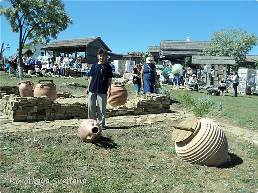 """19 мая было открытие этнографического музея """"Атамань"""" который находится в Краснодарском крае на Таманском полуострове. Я со старшими сыновьями приехали на этот праздник. Впечатлений - море, хотя и моря там хватало.  фото 9"""