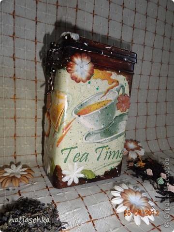 Баночка под чай,получилось не совсем то,что хотелось,но тоже ничего! фото 2