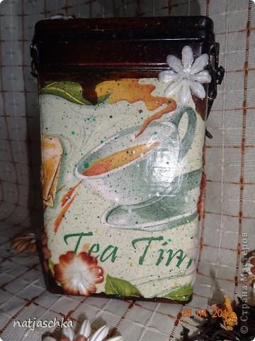 Баночка под чай,получилось не совсем то,что хотелось,но тоже ничего! фото 4