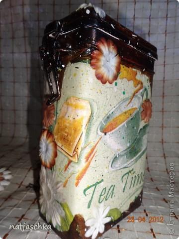 Баночка под чай,получилось не совсем то,что хотелось,но тоже ничего! фото 7