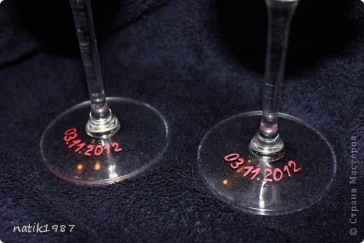 Свадебные бокалы на прогулку фото 2