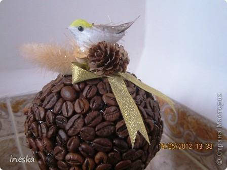 Давно хотелось сделать кофейное дерево,но что то все времени не хватало,но вот наконец я его сделала,вот такое  ветвистое,с птичкой в гнездышке фото 4