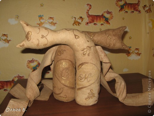 Нужно было сделать подарок на юбилей свадьбы, и вспомнились мне чудные неразлучники Наташи Вербер, вот и сповторюшничала. фото 2