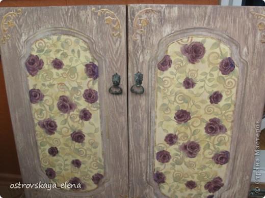 Ну вот и начался дачный сезон....Ура!!!!Подготавливая домик к переезду родненьких и любименьких, обнаружила, что кое-что можно было бы и обновить, заменить....Это новые двери шкафчика на кухне.