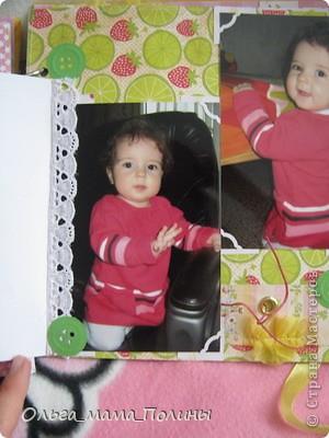 Вот такой альбом получился для дочки моей знакомой. Пуговичный потому, что на каждой странице использовала микропуговицы (обожаю их, они такие милые) и вырубные бумажные пуговички подаренные Питаевой Натальей (спасибо еще раз, Наташенька!) фото 13