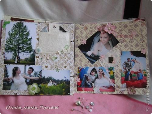 Первый раз делала свадебный альбом. Результатом осталась не совсем довольна, были некоторые погрешности, но вроде я их хорошо замаскировала.  фото 12