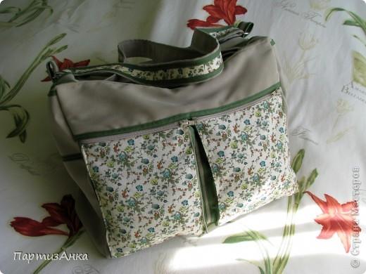 Мой новый, и совершенно сумасшедший проект - сумка с тремя внутренними отделениями. фото 1