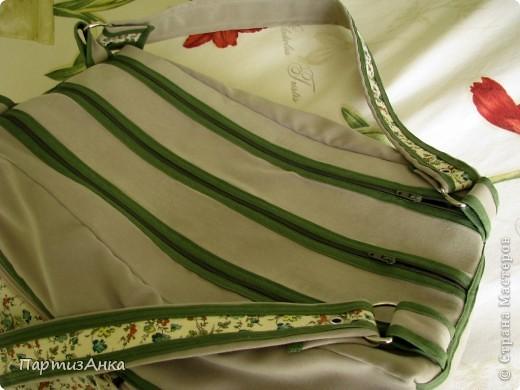 Мой новый, и совершенно сумасшедший проект - сумка с тремя внутренними отделениями. фото 2