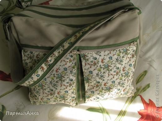 Мой новый, и совершенно сумасшедший проект - сумка с тремя внутренними отделениями. фото 5