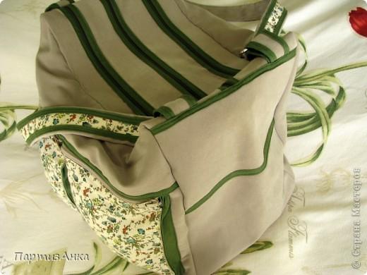 Мой новый, и совершенно сумасшедший проект - сумка с тремя внутренними отделениями. фото 4