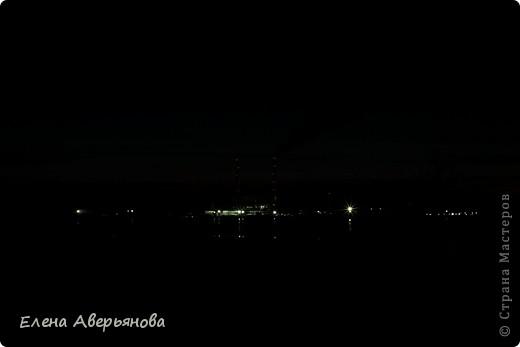 Кама. Пермский край. Вид на Пермскую ГРЭС. Вечереет. фото 3