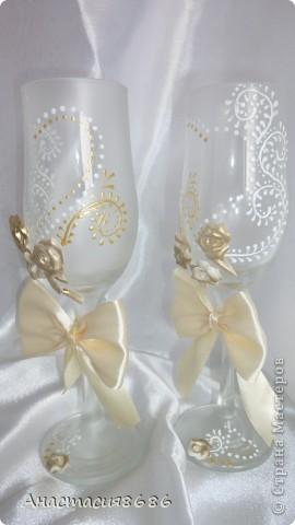 Бокальчики сестричке на свадьбу! фото 8