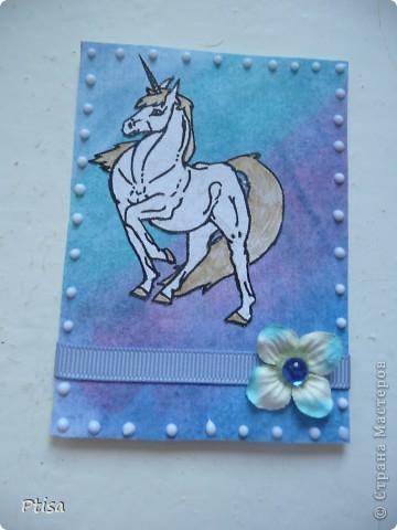Одна из первых открыток сделанных по мастер классу найденом в интернете ))  фото 5