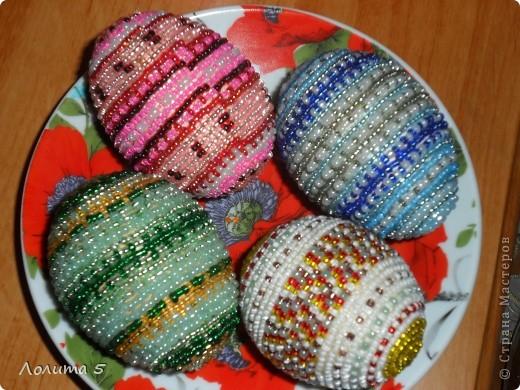 бисерные яйца фото 7