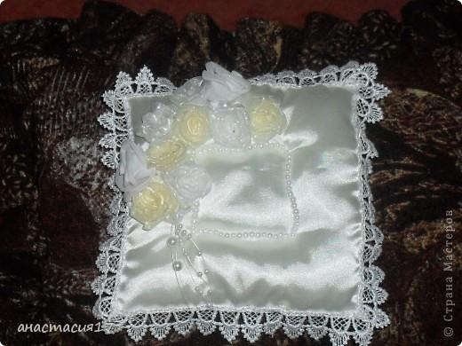 """маленькие красотулечки""""подушки  для колец"""" фото 2"""