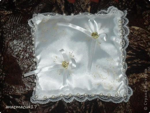 """маленькие красотулечки""""подушки  для колец"""" фото 3"""