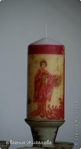 Декупаж свечи фото 3