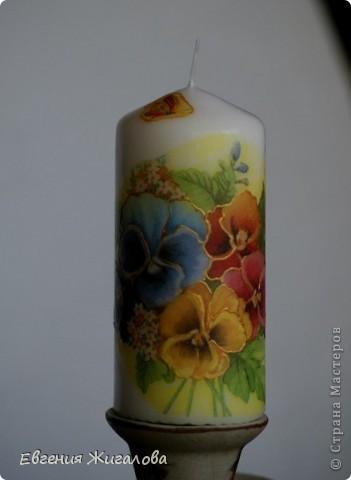 Декупаж свечи фото 4