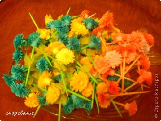 Цветочки крутила сразу на зубочистки фото 2