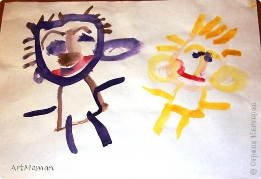 Недавно доча (2 г. 9 мес.), в порыве вдохновения, написала мой портрет. фото 3
