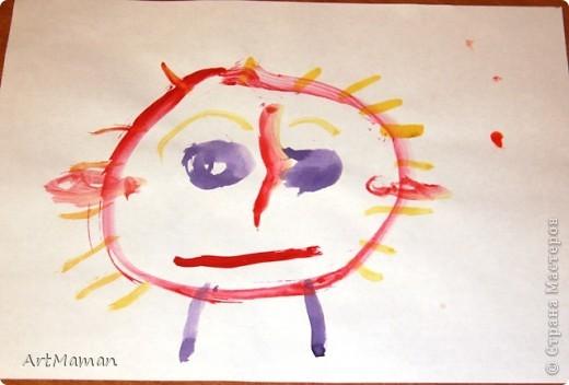 Недавно доча (2 г. 9 мес.), в порыве вдохновения, написала мой портрет. фото 2