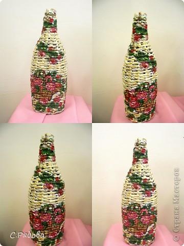 Первая плетеная бутылочка...
