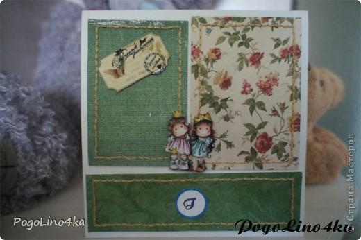 """Увидела открытку http://stranamasterov.ru/user/28190 """"Улыбнись!"""" и захотелось повторить, но так как квиллинг мне не покорился цветы я связала крючком. фото 4"""