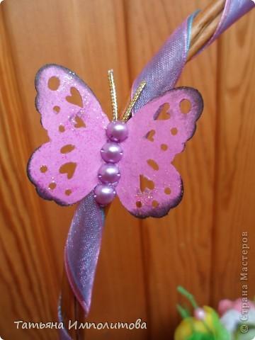 """Первый раз в жизни сделала """"сладкую корзиночку"""". Время на раздумья было не очень много и я остановила свой выбор цветов на мк Татьяны Николаевны,тем более,что подобные цветы я уже делала фото 3"""