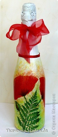 Декупаж бутылочек. фото 2