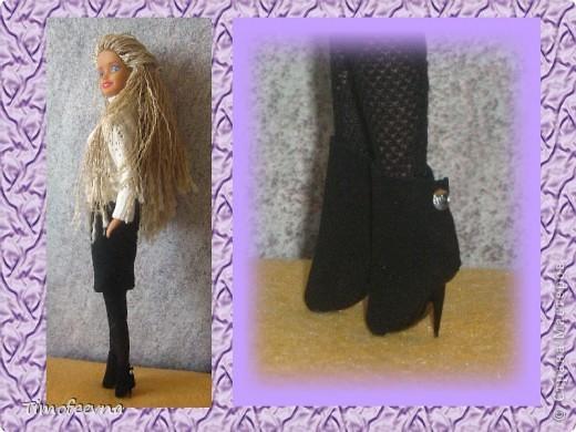 Гардероб Куклы 8 марта День матери День рождения Моделирование конструирование Сапожки для Барби мини-МК Клей Коробки спичечные Пластика фото 19