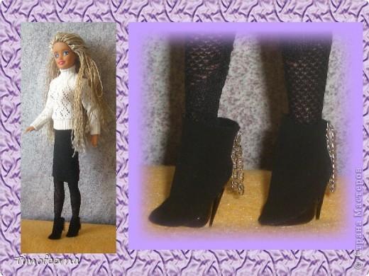 Гардероб Куклы 8 марта День матери День рождения Моделирование конструирование Сапожки для Барби мини-МК Клей Коробки спичечные Пластика фото 20