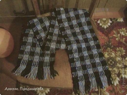 Вот такой шарфик изготовила для новогоднего подарка, Возилась очень долго с этими переходами нитей, но думаю это того стоит! фото 1