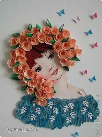 девушка в розах