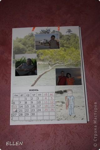 Доброго всем времени суток! Вот решила показать одну из первых своих работ в  стиле скапа. Этот календарь был сделан в подарок близким. Картинки объемные, хотя на фото это почти не видно :(  фото 6