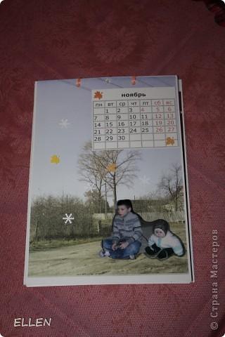 Доброго всем времени суток! Вот решила показать одну из первых своих работ в  стиле скапа. Этот календарь был сделан в подарок близким. Картинки объемные, хотя на фото это почти не видно :(  фото 11