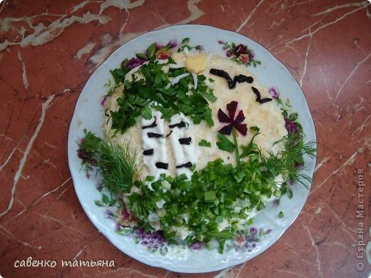 ко дню рождения сына решила подойти творчески. салаты все примитивные, но симпатичные.  фото 4
