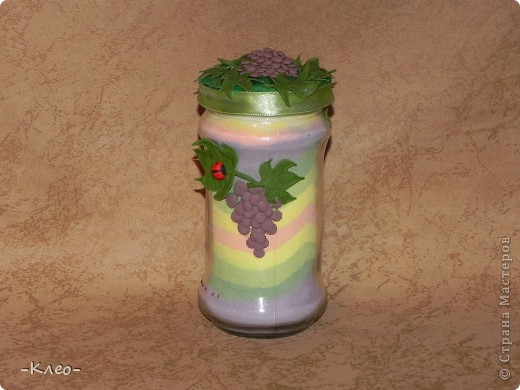 Эта банка с солью, украшенная цветами из холодного фарфора (самодельного) ушла в подарок маме. фото 5