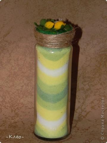 Эта банка с солью, украшенная цветами из холодного фарфора (самодельного) ушла в подарок маме. фото 6