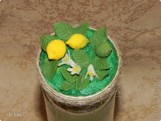 Эта банка с солью, украшенная цветами из холодного фарфора (самодельного) ушла в подарок маме. фото 7