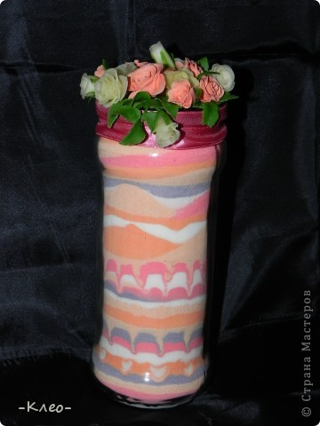 Эта банка с солью, украшенная цветами из холодного фарфора (самодельного) ушла в подарок маме. фото 1